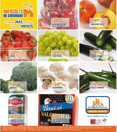 Miércoles de frutas y verduras Chedraui marzo 13: toronja $1.90 y más
