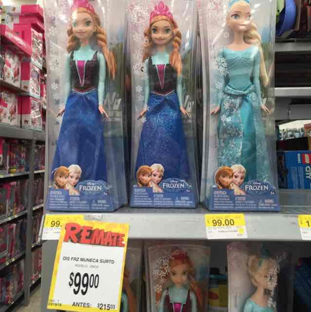 Bodega Aurrerá: Elsa y Anna de Frozen de $215 a $99