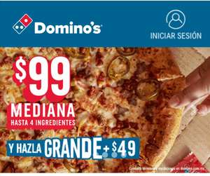 Domino's Pizza: Pizza grande de hasta 4 ingredientes