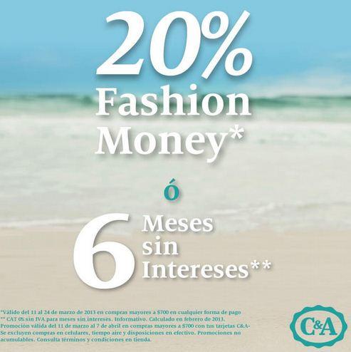 C&A: 20% en monedero electrónico