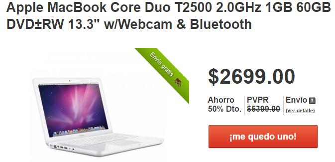 MeQuedoUno: MacBook Reconstruida a $2,699 con envío gratis
