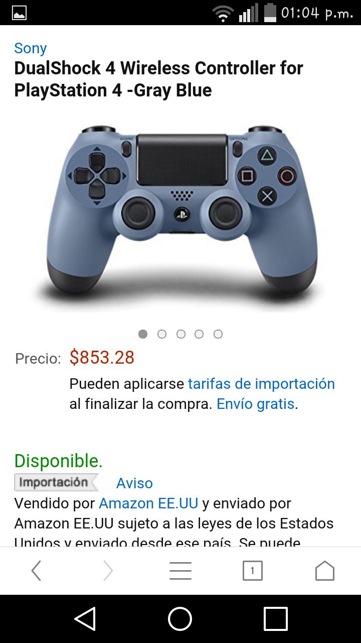 Amazon: Control Dualshock 4 edición especial de Uncharted 4 a $853.28