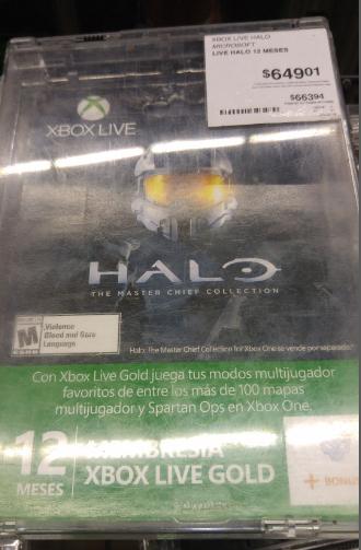 Sam's Club Toreo CDMX: tarjeta Xbox Live Gold 12 meses a $526.86