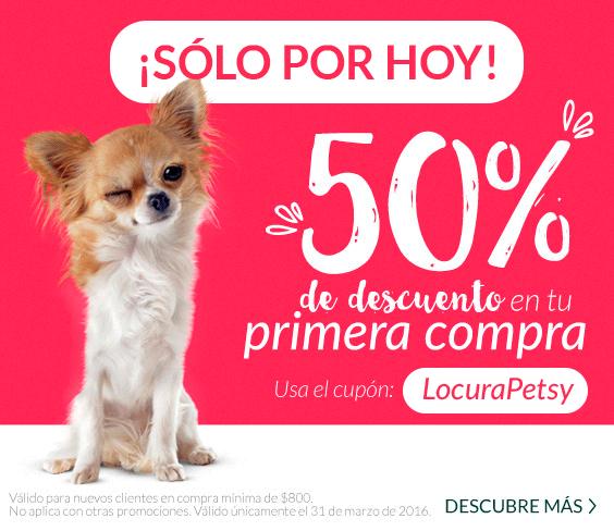 Petsy: 50% de descuento en toda la tienda con cupón