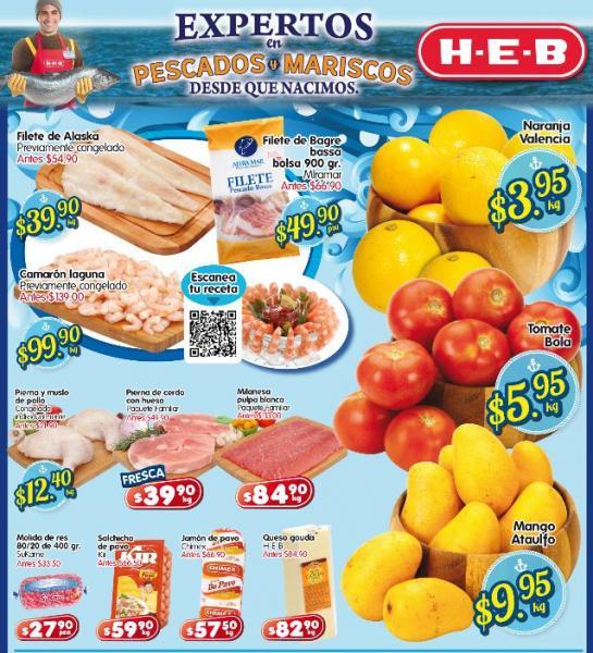 Frutas y verduras HEB: tomate $5.95 y más