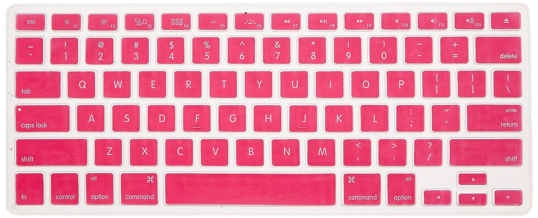 Amazon: Protector para teclado Rosa de silicon para MacBook a $12