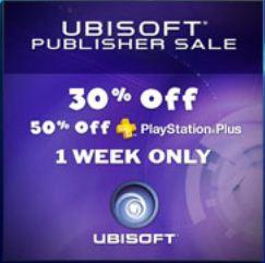 PlayStation Network: 30 ó 50% de descuento en juegos de Ubisoft