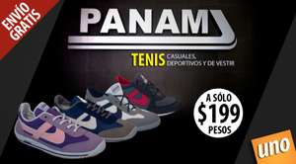 MeQuedoUno: Tenis Panam $199 envío gratis.