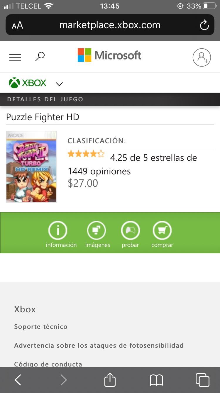 Xbox Puzzle Fighter HD