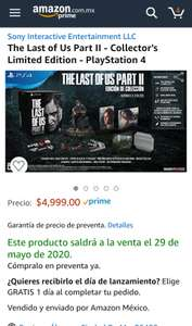 Amazon: The Last of us Part II Collectors Edition Preventa