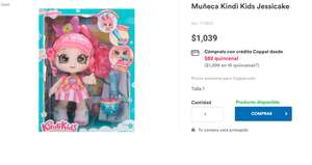 Bodega aurrerá Muñeca Peppa-mint Kindi Kids Time Friends