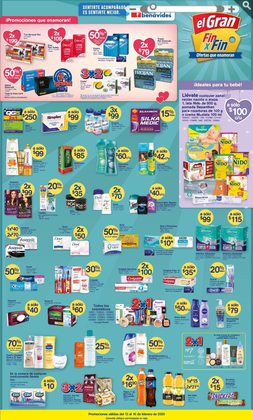 Farmacias Benavides: Ofertas Día del Amor y la Amistad del Miércoles 12 al Domingo 16 de Febrero