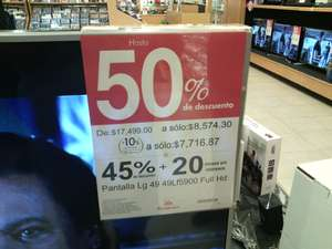 Sanborns: pantalla LG Smart TV 49lf5900 49 pulgadas a $7,716