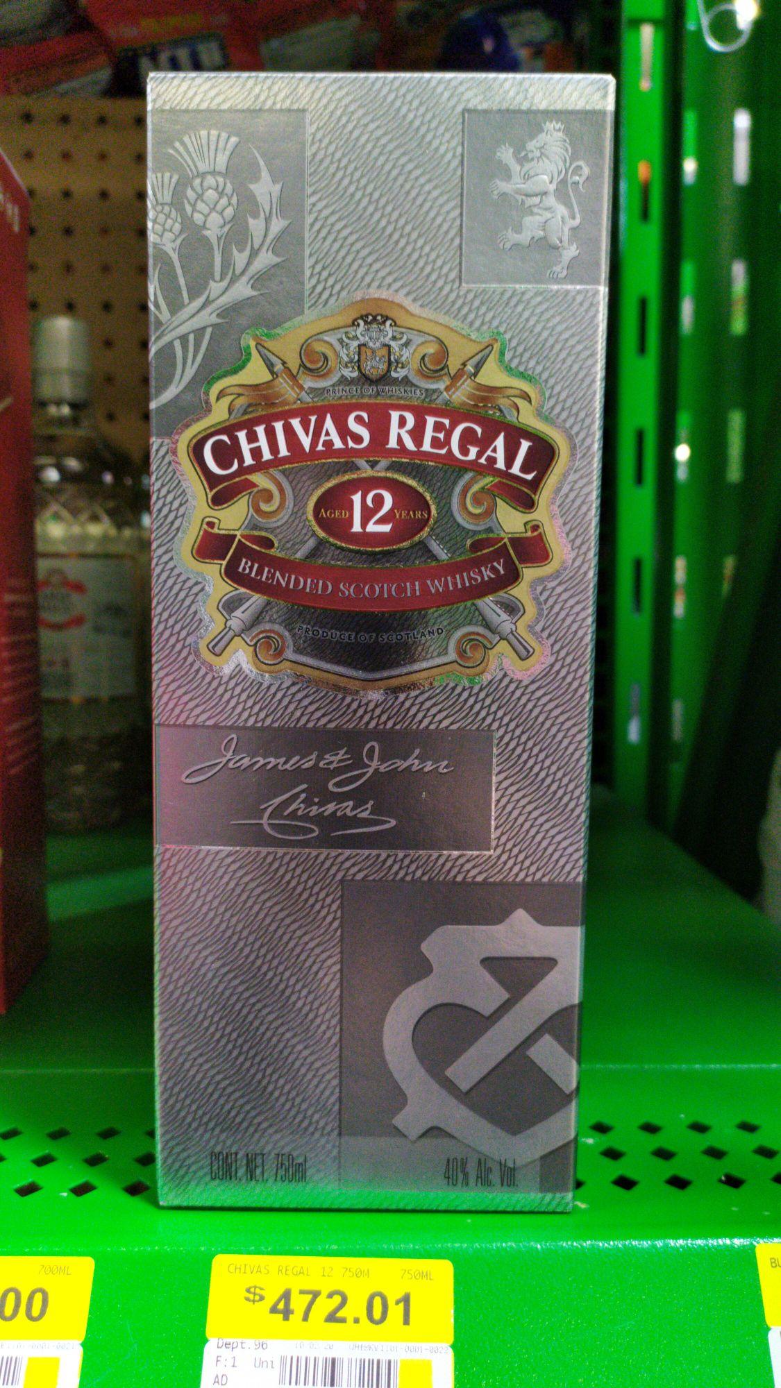 Bodega Aurrerá: Chivas Regal 12 - 750 ml