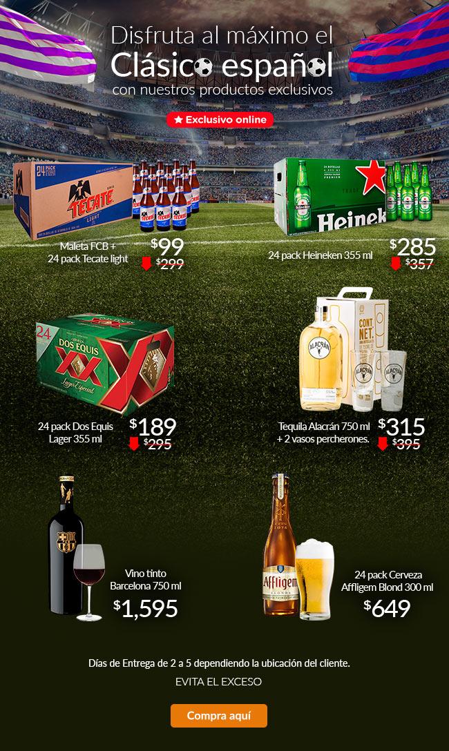 Superama en línea: 24 Cervezas XX a $189, 24 Heineken a $285, repiten 24 Tecate Light + Maleta por $99 y más