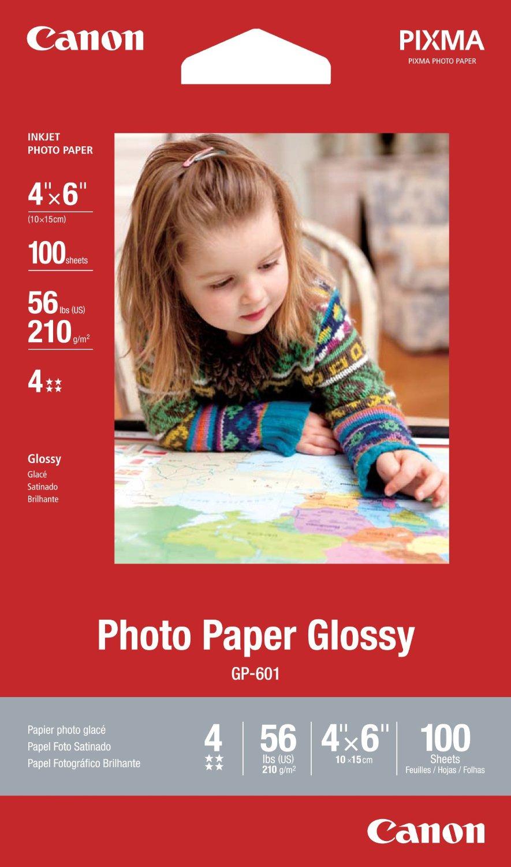 Amazon: Papel Fotográfico Canon Brillante 4x6 (paq. con 100) a $88