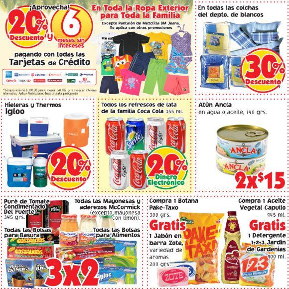 Soriana: ofertas en ropa, refrescos, colchas y más