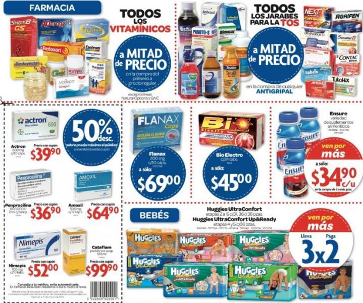 Farmacias Benavides: 3x2 en pañales Huggies y más