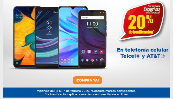 Chedraui: 20% de bonificación en monedero en telefonía celular Telcel y AT&T (en línea 20% de descuento)