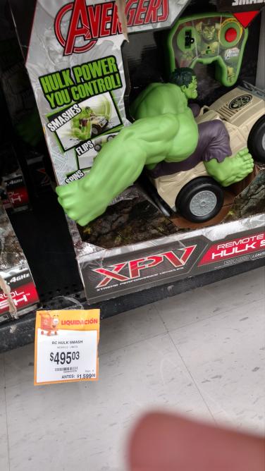 Walmart Querétaro Quintana: radio control Hulk Smash a $495.03