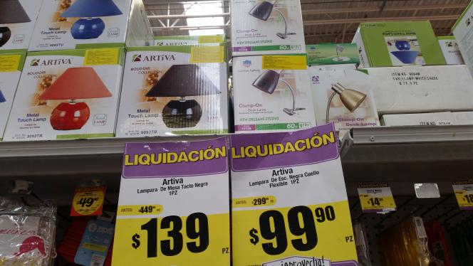 HEB Concordia Apodaca: Lámparas a $99-139