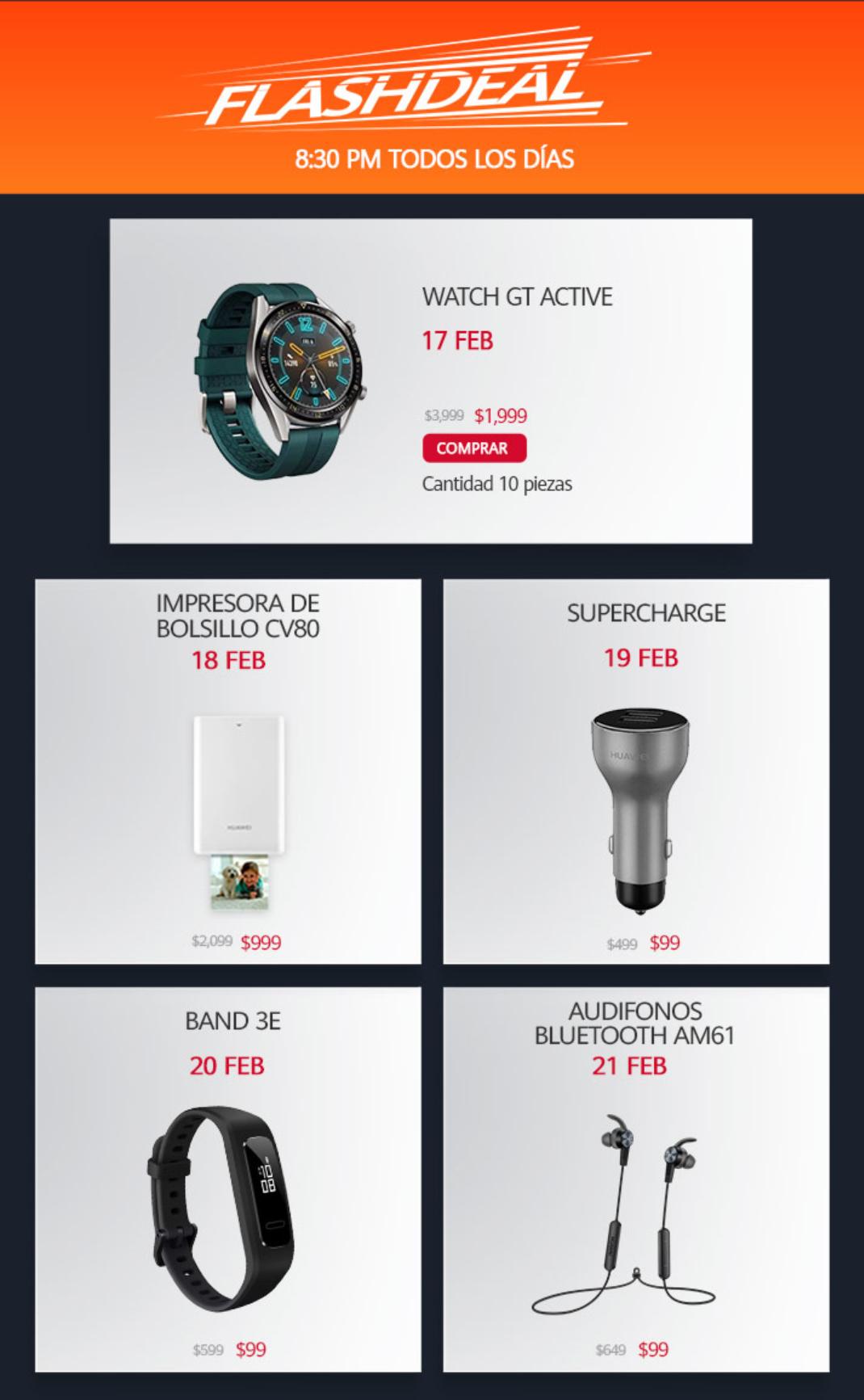 Flash Deal Huawei del 17 al 21