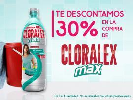Chedraui Cuponcash: Cupón de 30% para Cloralex Max 600ml y 1Lt y Pinol Aromas
