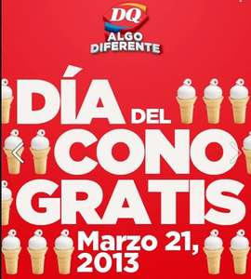 Día del cono gratis en Dairy Queen este 21 de marzo
