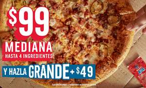 Domino's Pizza: Pizza 4 ingredientes por $99