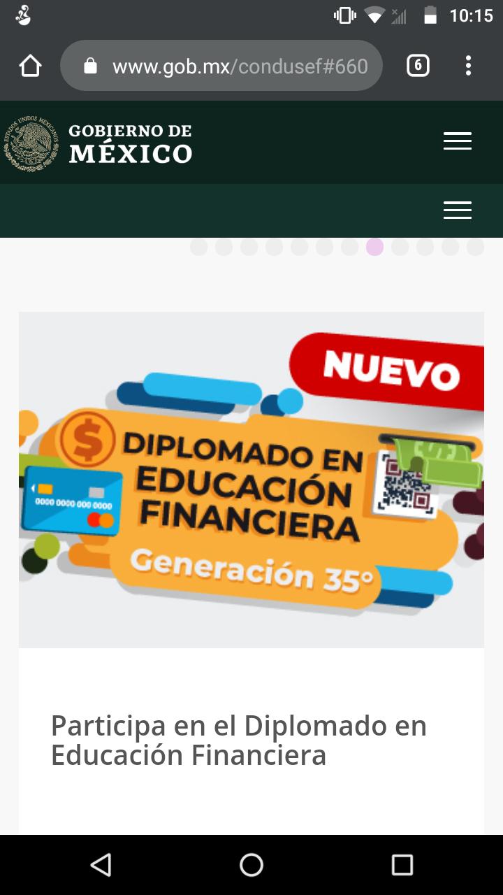 CONDUSEF, DIPLOMADO EN EDUCACIÓN FINANCIERA 2020