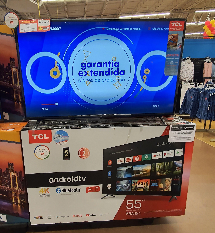 Walmart Celaya: Pantalla TCL 55 pulgadas, 4K Android TV modelo 55A421