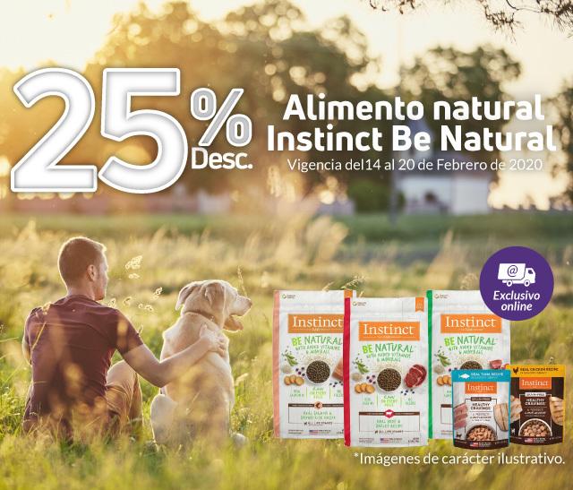 Maskota: 25% en alimento natural