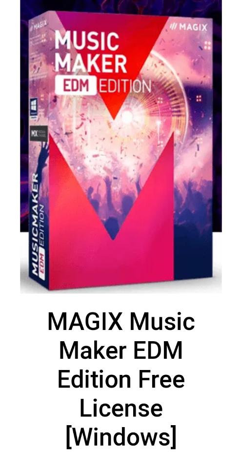 Licencia gratuita para MAGIX Music Maker EDM Edition