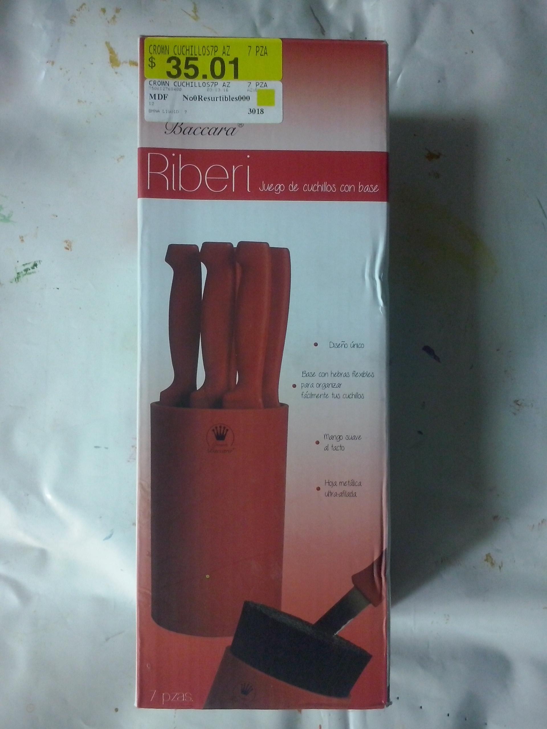 Walmart: Set de cuchillos Crown Baccara a $35.01 y más ofertas