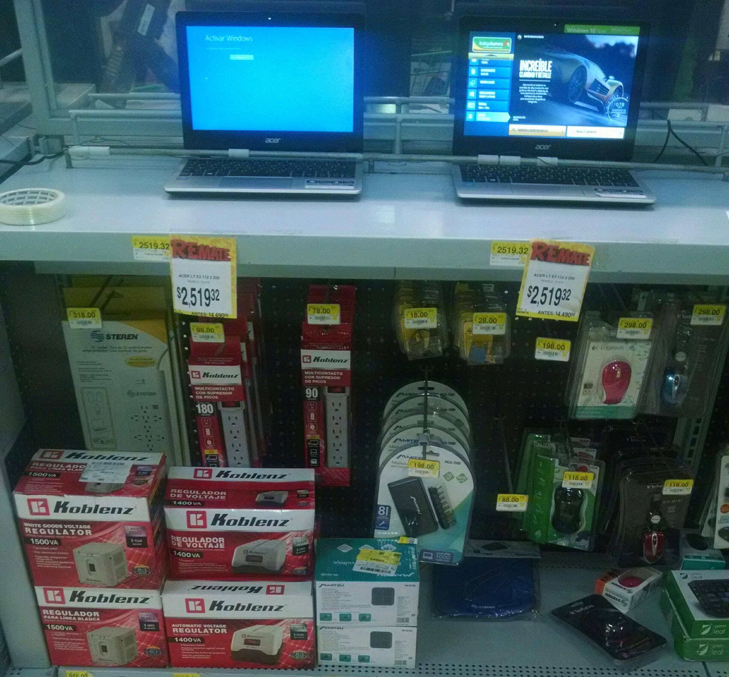 Bodega Aurrerá: Notebook Acer lt e3 a $2,519