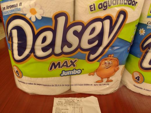 Oxxo Belgica Portales: Papel Higienico Delsey Jumbo 4 rollos a $10