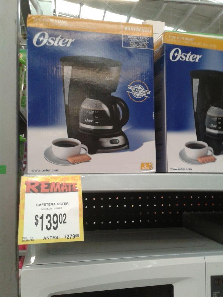 Bodega Aurrerá: Cafetera Oster de $300 a $139.02