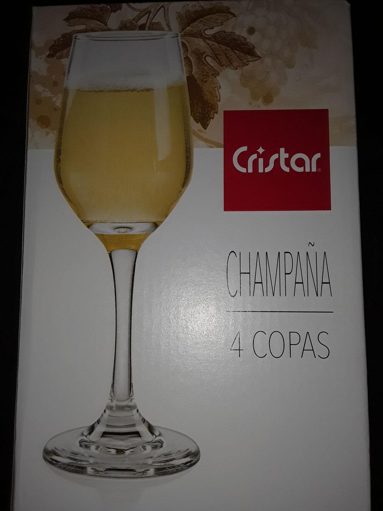 Walmart: 4 copas cristar para champaña