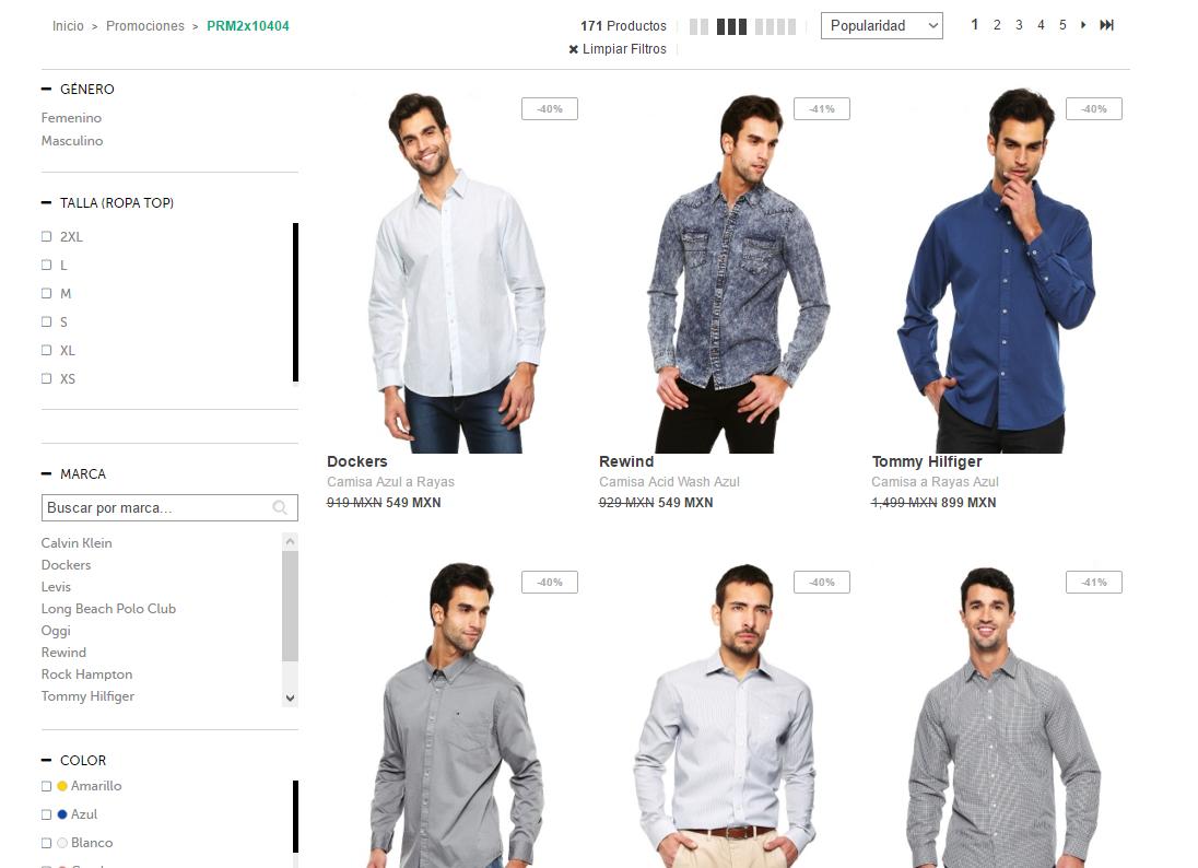 Dafiti  Camisas al 2x1 + envío gratis en compras mayores a  899 8f2b538ab3618