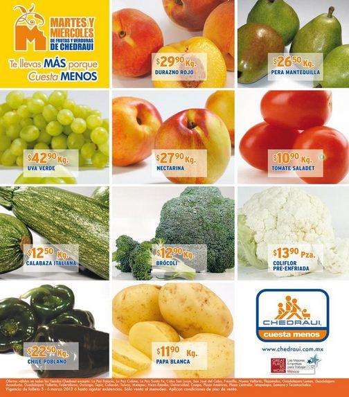 Miércoles de frutas y verduras Chedraui marzo 6: plátano $7.50 y más