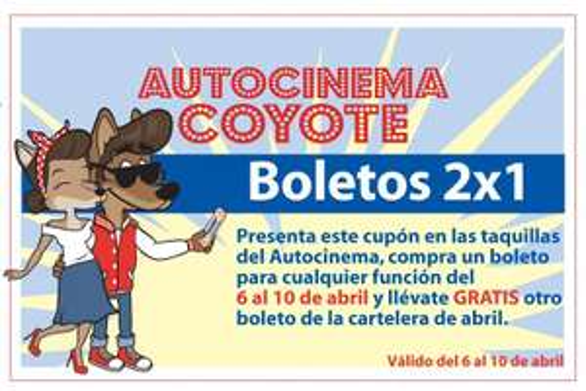 Autocinema Coyote: boletos 2x1