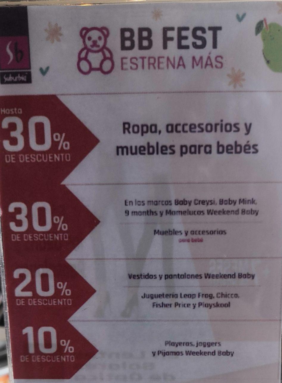 Suburbia: Descuentos BB Fest