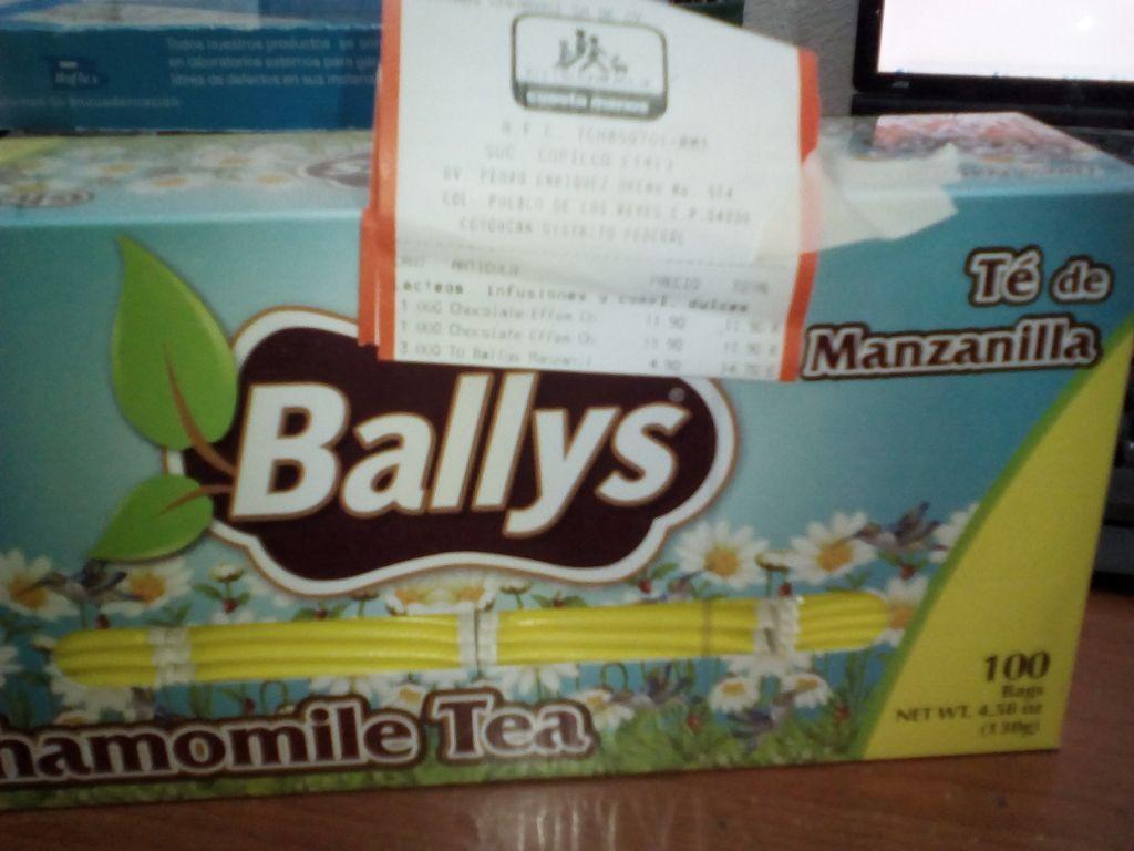 Chedraui: té BALLYS con 100 sobres a $4.50