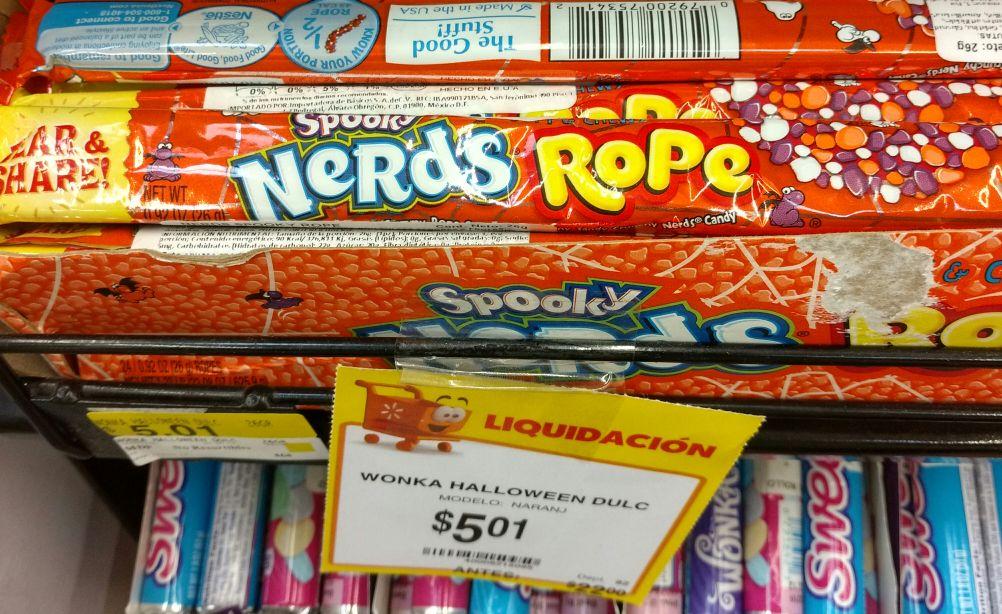 Walmart Tuxtla: Dulces Nerds Rope $5.01
