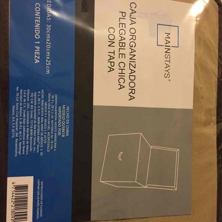 Walmart: caja organizadora Mainstay $30.02