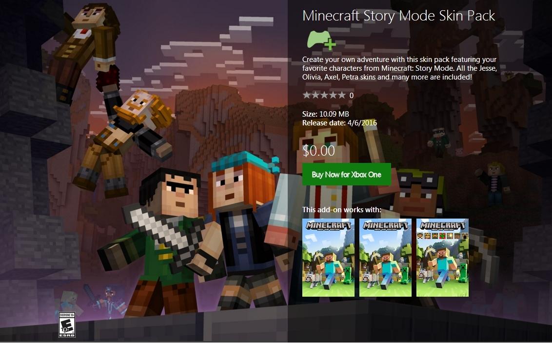 Minecraft: Skins gratis de Story Mode, varias plataformas