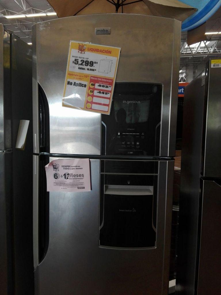 Walmart Norte Veracruz: Refrigerador Mabe 15 pies liquidación a $5,299.01