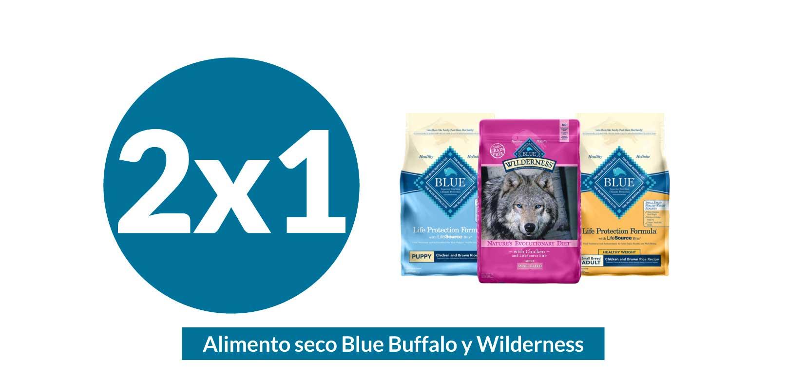 maskota 2x1 en alimento blue buffalo
