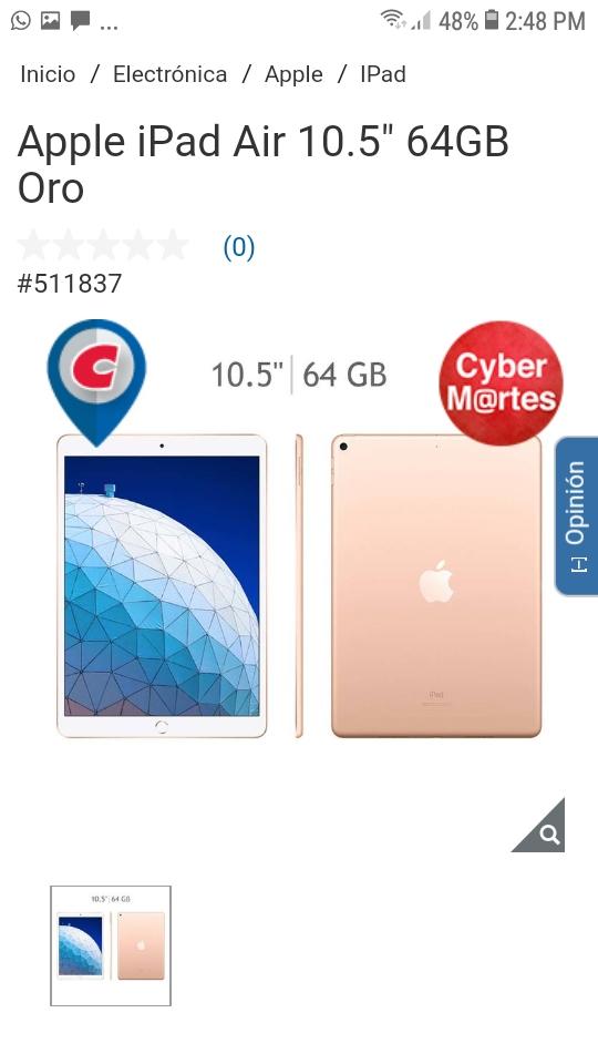 "Costco Apple iPad Air 10.5"" 64GB"