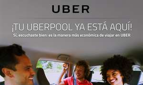 Uber Pool: 4 viajes de $50 mxn c/u completamente gratis (usuarios nuevos)